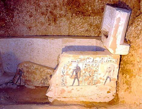 Imagen de la tumba de 'la noble' hallada. | Foto: EFE