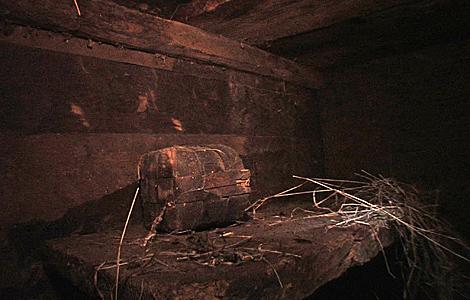 La estructura de madera hallada al este de Turquía. | AFP