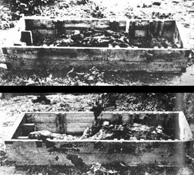 cadaver de hitler e eva braun